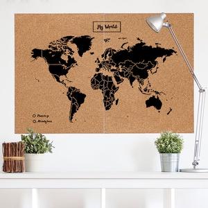 Woody map XXlarge zwart 120 x 90cm