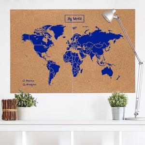 Woody map XXlarge blauw 120 x 90cm