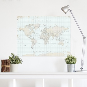 Woody map Vintage Xlarge 90 x 60cm