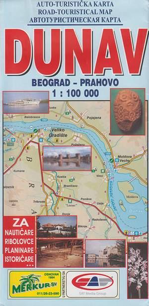 Dunav Donau 1:100.000 Beograd Prahovo Servie