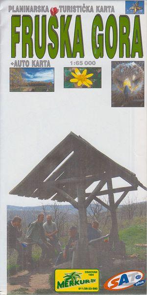 Fruska Gora Wandelkaart 1:65.000