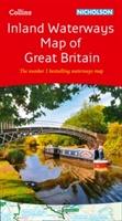 Collins Nicholson Inland Waterways Map Of Great Britain