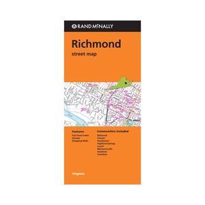 Rand Mcnally Richmond, Virginia Street Map