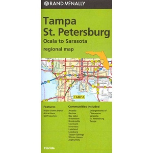 Rand Mcnally Tampa/st. Petersburg, Florida Regional Map: Ocala To Sarasota