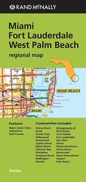 Rand Mcnally: Miami/fort Lauderdale/west Palm Beach Regional Map ( Rand Mcnally Miami/fort Lauderdale/west Palm Beach )