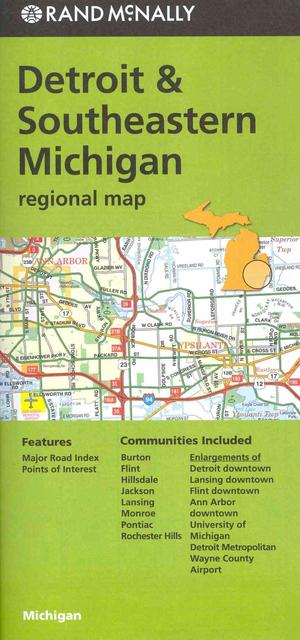 Rand Mcnally Detroit & Southeastern Michigan Regional Map