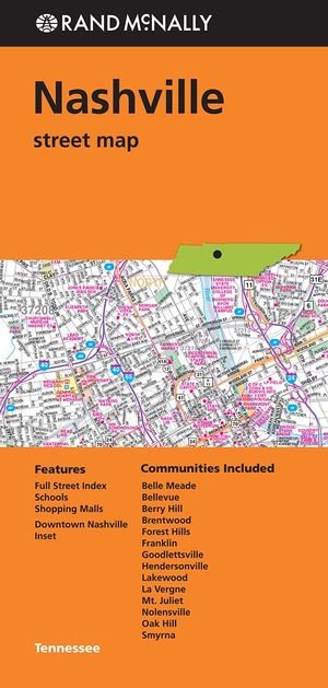 Folded Map Nashville Tn Street