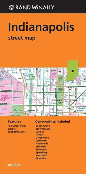 Rand Mcnally Indianapolis, Indiana Street Map