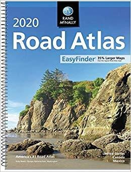 Rand McNally 2020 Easyfinder midsize Road Atlas spiral