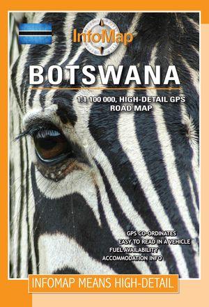 Botswana Gps Roadmap 1:1,4m Infomap