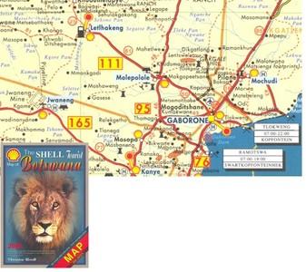 Botswana Touristmap Veronica Roodt Shell