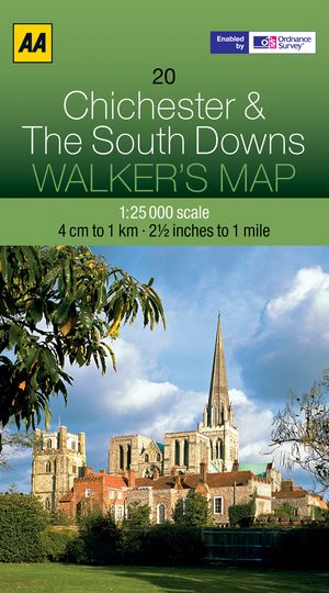 20 Chichester And The South Downs walker's map AA