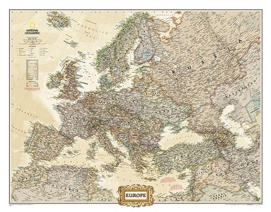 Europa pol. antiek plano geplastificeerd