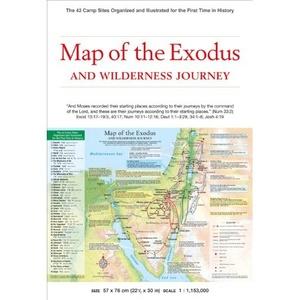 Map Of Exodus 1:1,153,000 - Periplus
