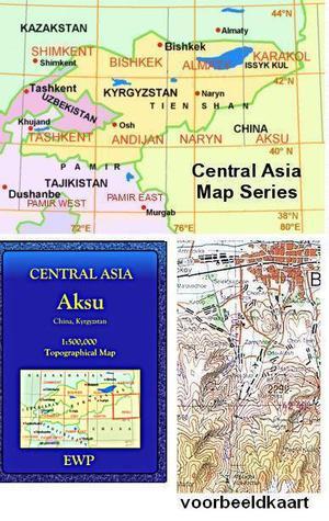 Aksu (kyrgyzstan, China) 1:500.000