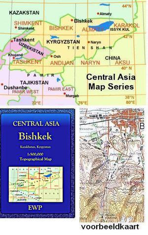 Central Asia Maps - Bishkek 1:500.000