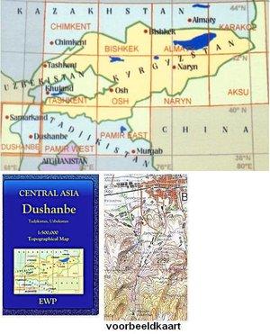 Dushanbe - Samarkand 1:500.000 Tadjikistan, Uzbekistan