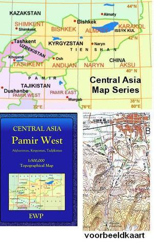 Pamir West (afghanistan, Kyrgyzstan, Tadjikistan) 1:500.000