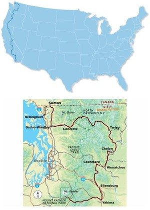 Washington Parks Bicycle Route #2 Bc2201