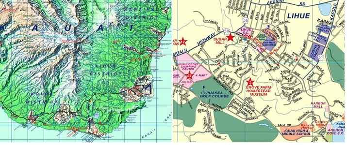 Kauai Travelmap 1:110d Phears