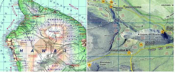 Hawaii Travelmap 1:233,500 Phears