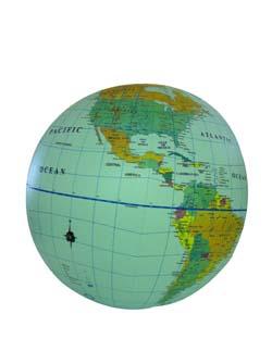 Globe 30 pol. inflatable