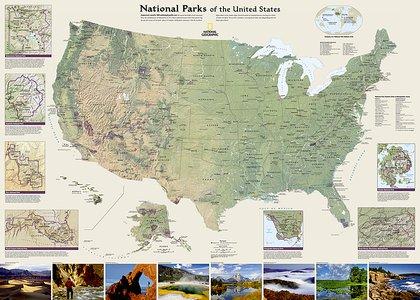 United States National Parks, Laminated