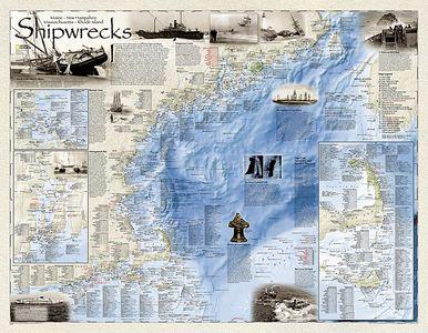 Shipwrecks Of The Northeast, Laminated