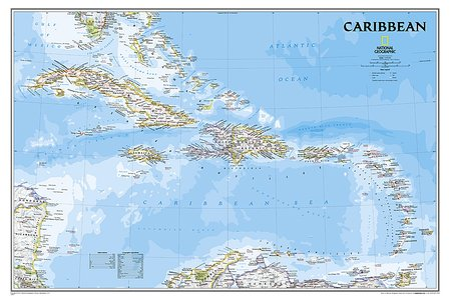 Caribbean plano geplastificeerd