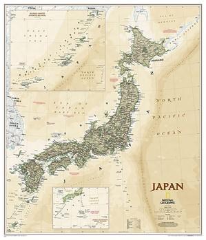 Japan antiek plano geplastificeerd
