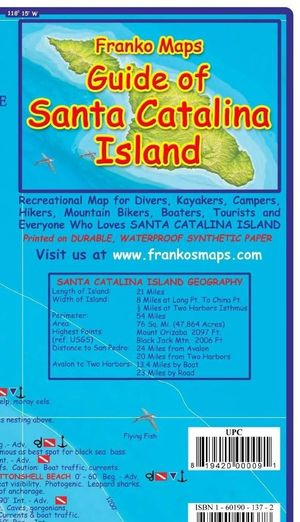 Santa Catalina Island - Franko Map