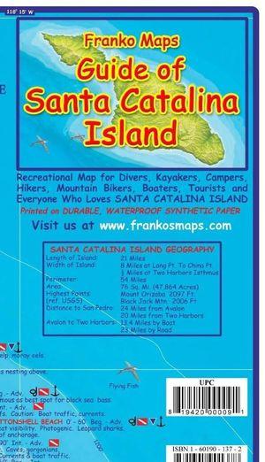 Santa Catalina Island - Franko Map