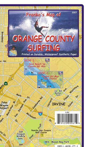 Orange County Surfing Map Franko's