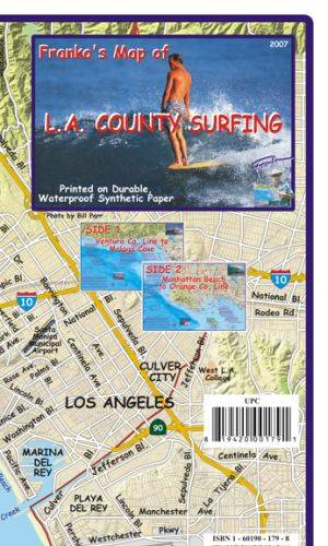 Los Angeles County Surfing Map Franko's