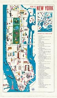 Vintage Tea Towel New York theedoek