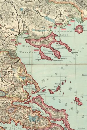 1889 Map Of Southeast Europe
