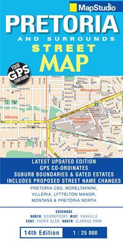 Pretoria And Surrounds 1:25d Mapstudio