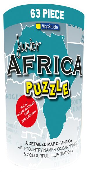 Afrika puzzel junior 63 stukken in tube