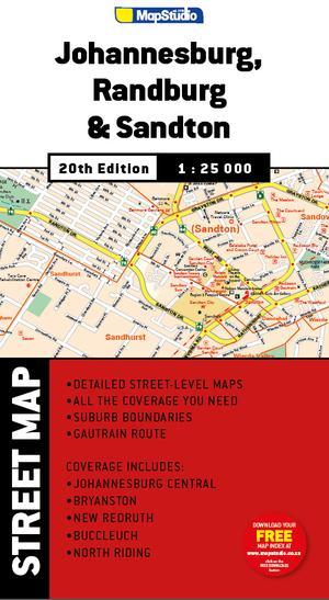 Street Map: Johannesburg, Randburg & Sandton