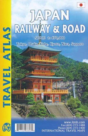 Japan spoorwegen- en wegenatlas