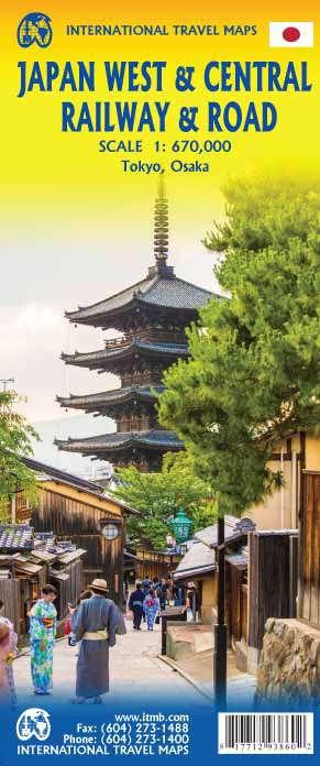 Japan West & Centraal spoorwegen & wegen
