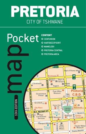 Pretoria pocket tourist map
