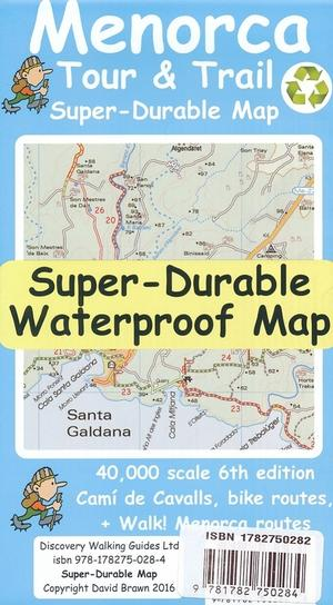 Menorca Tour And Trail Map 1:40.000