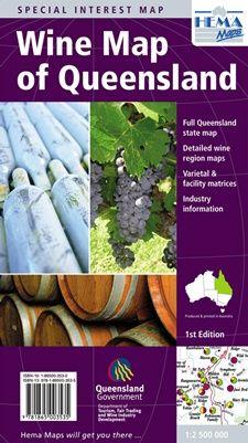 Wine Map Of Queensland 1/1,5m Hema Maps