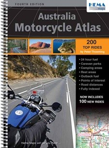 Australia Motorcycle Atlas 4e Hema Sp