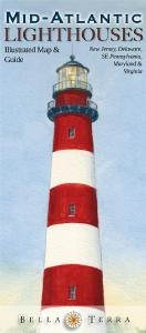 Mid-atlantic Lighthouses Illustrated Map & Guide