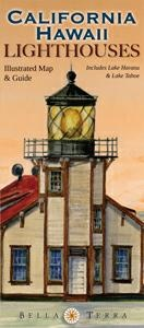 California/hawaii Lighthouses Illustrated Map & Guide