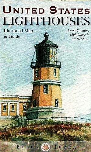United States Lighthouses Illustrated Map & Guide