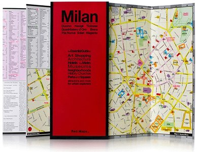 Milan Red Map