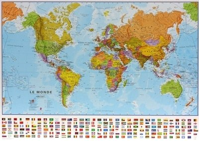 Monde pol. plano geplastificeerd